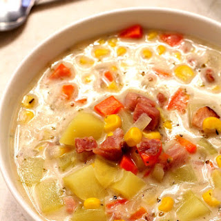 Ham Potato and Corn Chowder