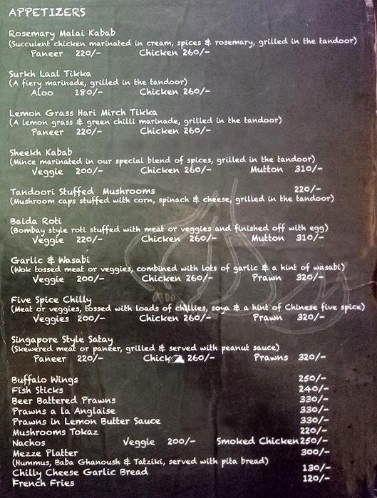 Over The Top Terrace Lounge menu 10