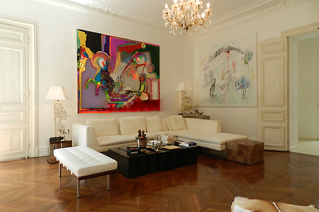 Bright living area at Rue des Ursulines