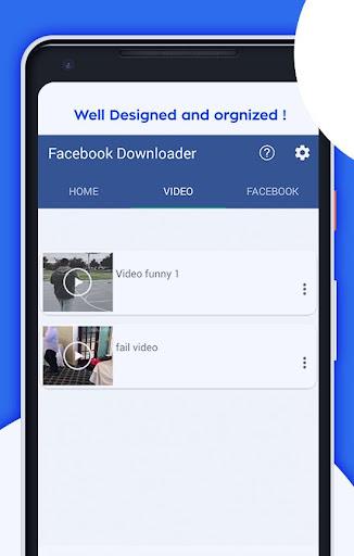 Video Downloader for facebook download 1.1.0 screenshots 3