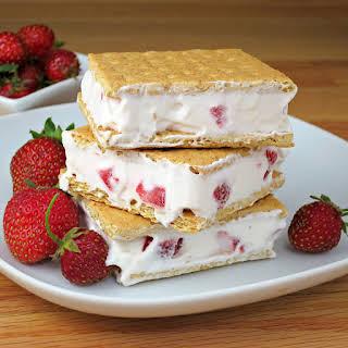 Strawberries and Cream Sandwiches.