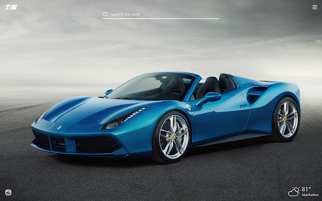 Ferrari Spider HD Wallpaper New Tab Theme