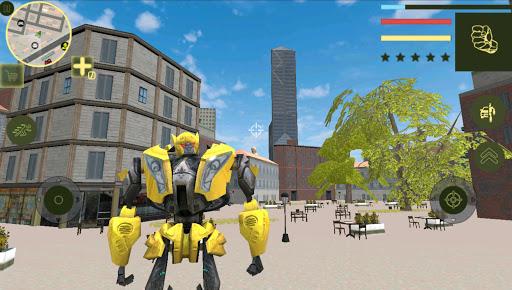 Golden Robot Car Transforme Futuristic Supercar 1.2 3
