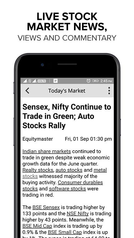 Indian Stock Market News and Stock Research App- screenshot
