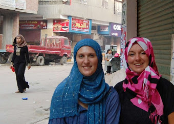 Two Expat women friends during Ramadan in Egypt wearing Hijab