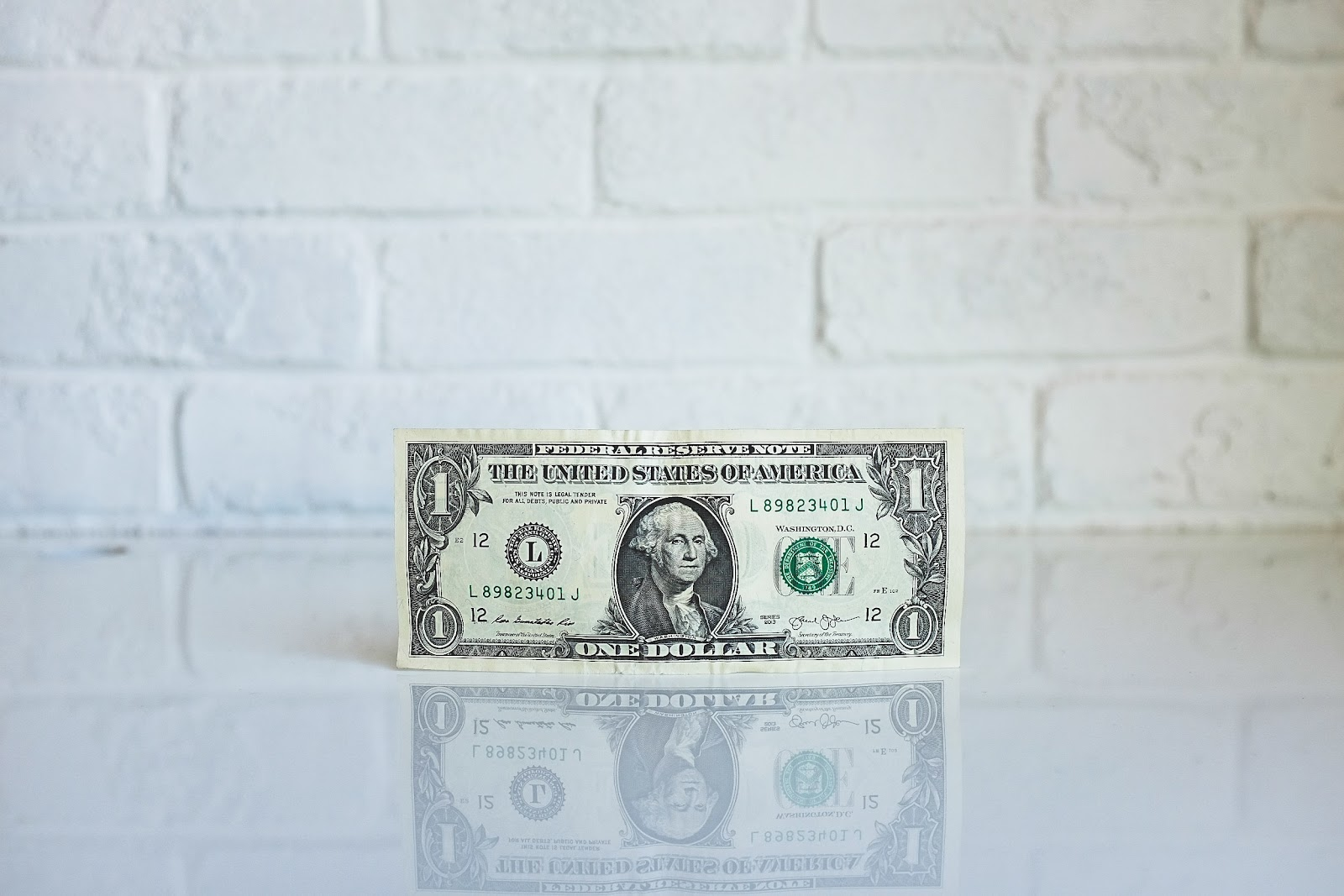 A photo of a dollar bill