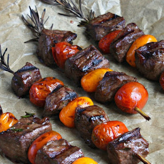 Rosemary Steak Skewers with Balsamic Glaze