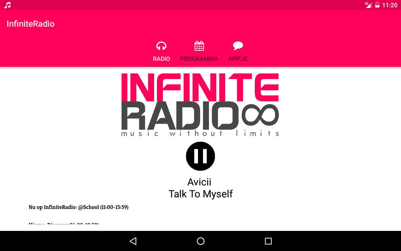 InfiniteRadio: screenshot