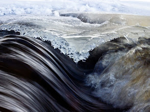 Photo: This is not a painting. It's a real photo of a spring stream in Finland.