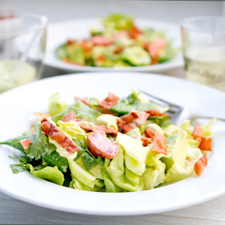 Salmon Salad with Creamy Asian Avocado Dressing