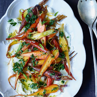 Glazed Carrots with Goat Cheese and Honey.
