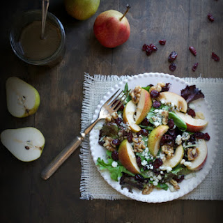 Forelle Pear and Blue Cheese Salad with Maple Vinaigrette