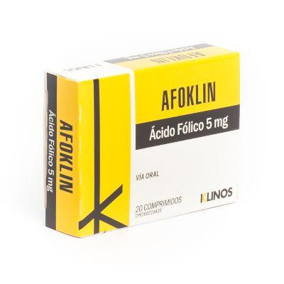 Ácido Fólico Afoklin 5 mg x 20 Comprimidos Klinos