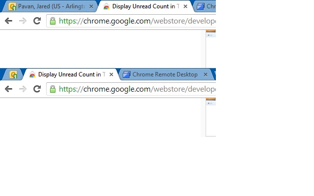 Display Unread Count in Tab for OWA