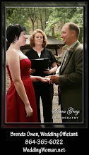 Photo: Ceremoy in Progress Falls Park Greenville, SC - http://WeddingWoman.net -   Photo CourtesySusan Gray