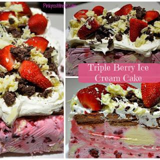 Triple Berry Ice Cream Cake.