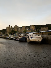 Photo: After dinner walk along Conwy harbor