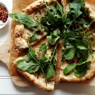 Potato & Arugula Pizza with Spelt Oatmeal Crust Recipe