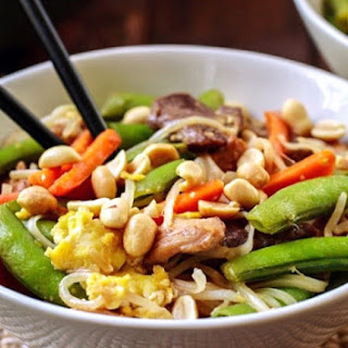 Veggie Loaded Chicken Pad Thai