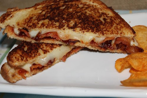 Bacon BBQ Grilled Cheese Sandwich