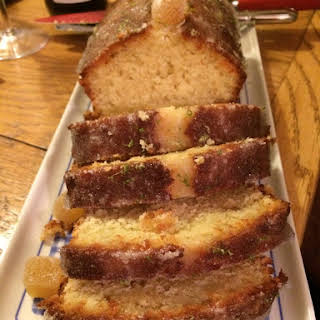 Ginger and Lime Drizzle Cake.