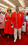 The comforter Glayton Modise and his wife Mamohau Modise.  /Veli Nhlapo