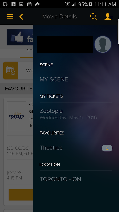 Cineplex Mobile- screenshot