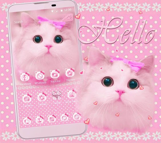 Download Cute Kitty Theme Pink Bow Kitty Apk Latest Version App By