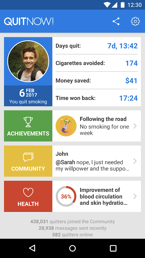 QuitNow! - Quit smoking- screenshot