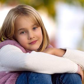 Ana by Adrian Mitu - Babies & Children Child Portraits ( close-up, natural, kid, blonde, girl, portrait, child )