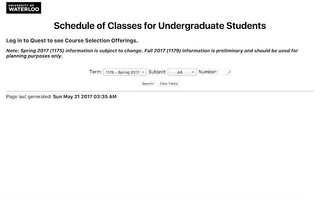 Pretty UW Course Schedule