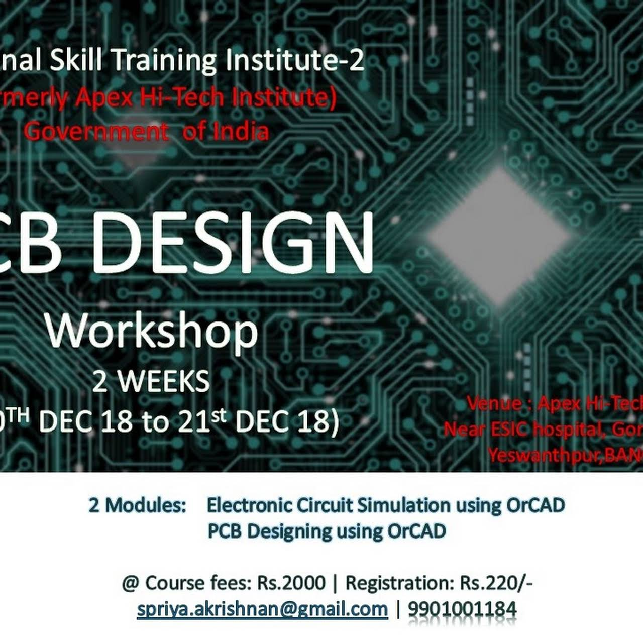 Pcb Design Telecom Training Government Skill Development Designing Electronic Circuits Posted On Dec 1 2018