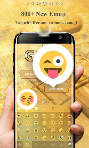 Gold Pro GO Keyboard Theme Screenshot