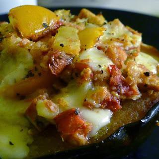 Tomato Mozzarella Stuffed Squash