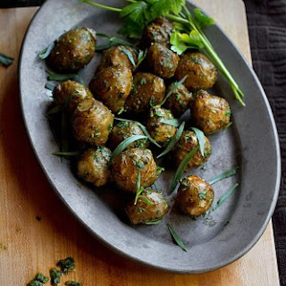 Roasted Jerusalem Artichokes with Salsa Verde