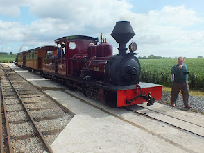 Photo: 020 Arrival at Oak Tree Station with Hudswell Clarke 0-6-0 Fiji on the passenger train that brought me here .