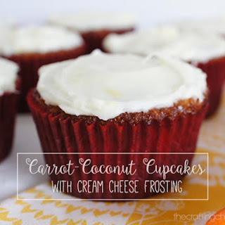 Carrot-Coconut Cupcakes