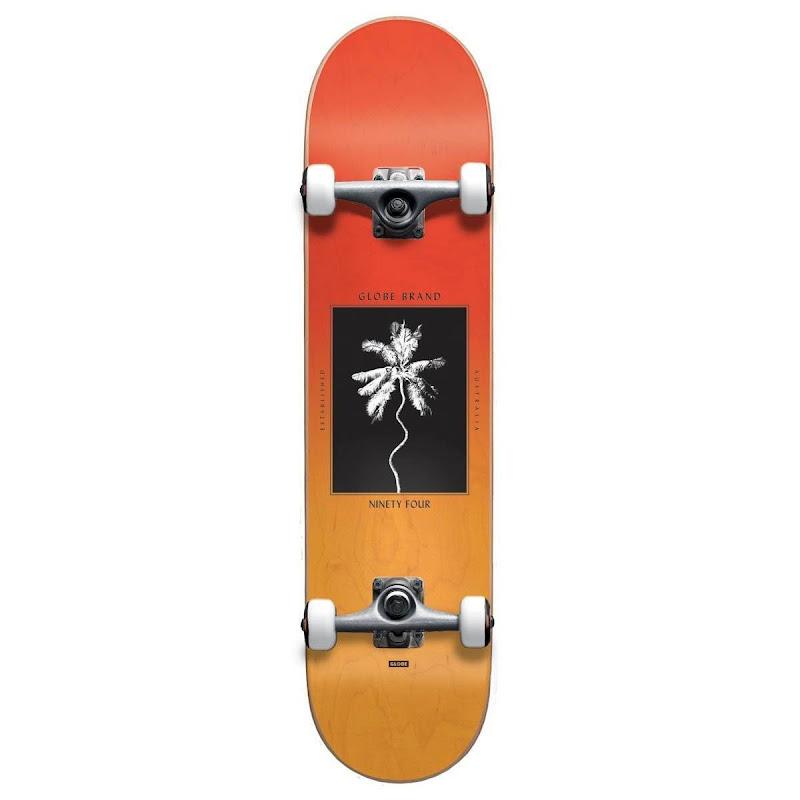skateboard - Globe Palm off mini Red fade Dye 7