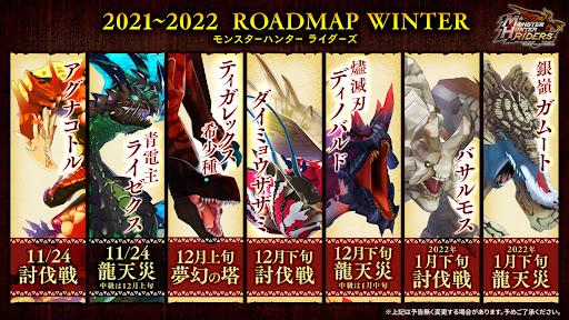 2021冬のロードマップ