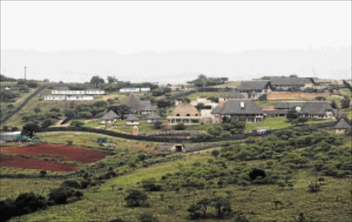 CONTROVERSIAL:  President Jacob Zuma's homestead  at NkandlaPhoto: THEMBINKOSI DWAYISA