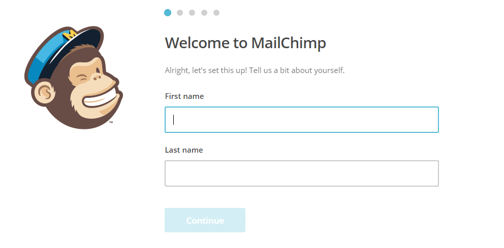 welcome to mailchimp