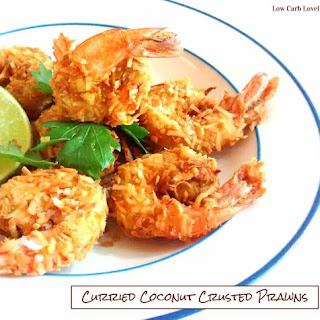 Curried Coconut Crusted Prawns