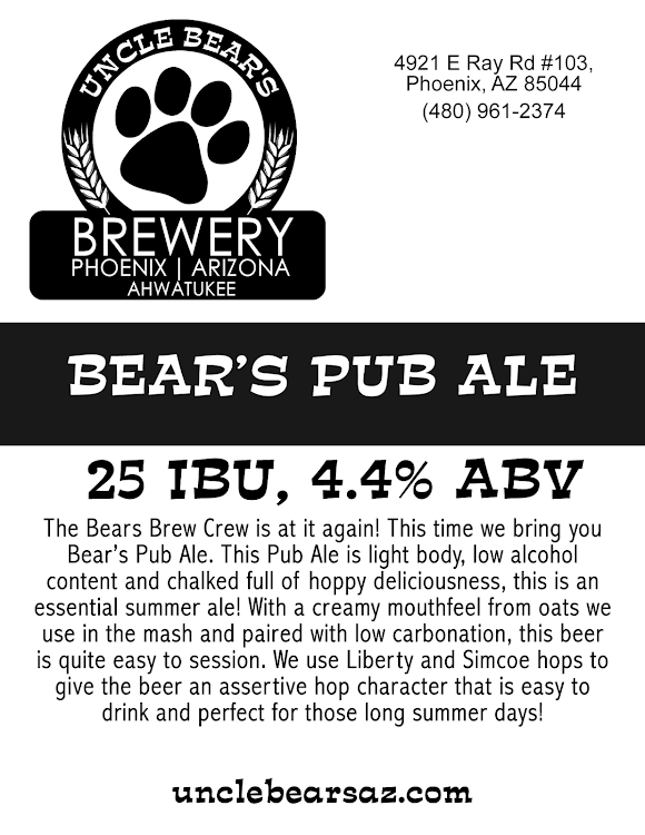 Logo of Uncle Bear's Pub Ale