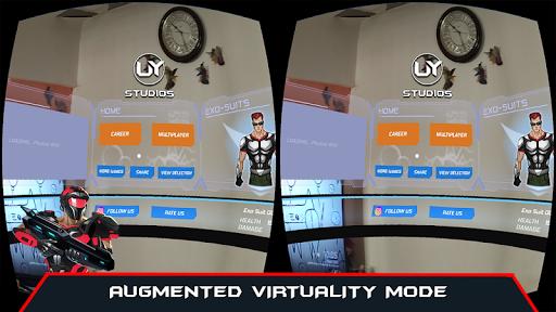 VR AR Dimension - Robot War Galaxy Shooter android2mod screenshots 4