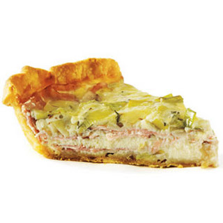 Smoked Ham, Leek and Gruyère Quiche