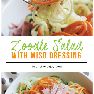 Zoodle Salad with Miso Dressing