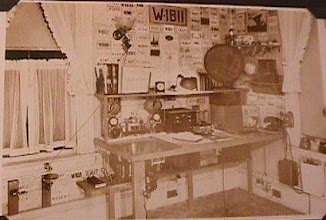 """Photo: Early 1930s shack of W1BII and his sister W1FTJ """"Dot"""" Wilkins Evans."""