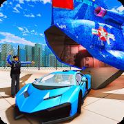 US Police City Car Transport Truck 3D