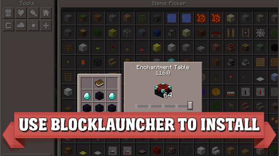 Pocket Manager mod for Minecraft - náhled