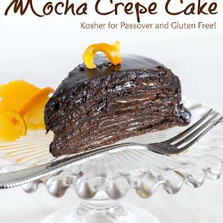Passover Mocha Crepe Cake {Gluten Free}